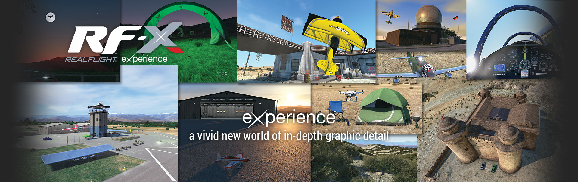 RF-X RealFlight Experience: Experience a vivid new world of in-depth graphic detail